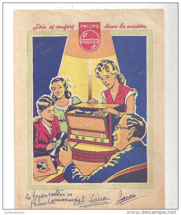 Protège Cahier Publicité Philips Joie Et Confort Dans La Maison Disque Philips - Book Covers
