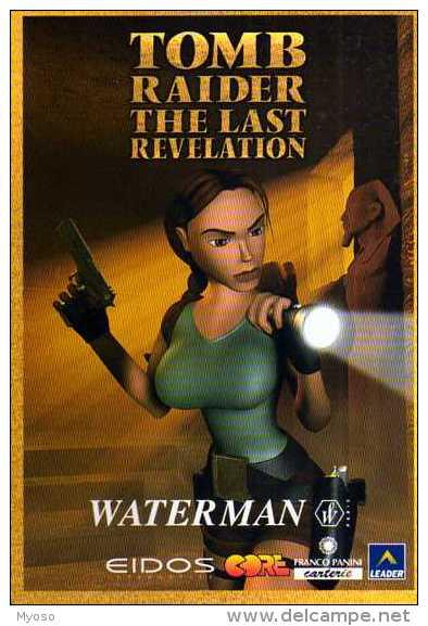 Pub WATERMAN Tomb Raider The Last Revelation, Femme, Pistolet, Lampe Torche - Pubblicitari