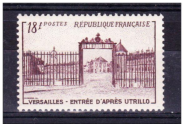 FRANCE  1952   Versailles Castle - Gate     ,  Y&T   #   939,    Cv  3.50  E  ,    ** M N H , V V F - Francia