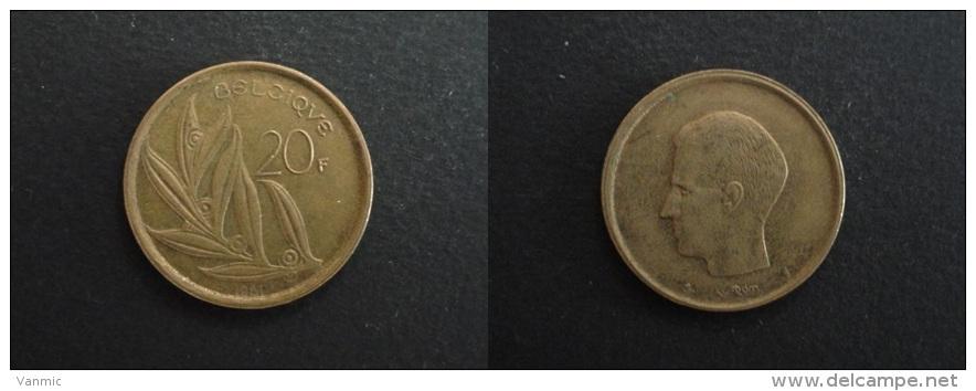 1981 - 20 FRANCS BELGIQUE LEGENDE FRANCAISE - BELGIUM - 07. 20 Francs