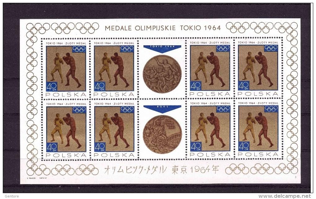 POLAND 1964 Medals Winned Yvert Cat  N° 1472/79 8 Minisheet  Absolutely MNH ** - Summer 1964: Tokyo