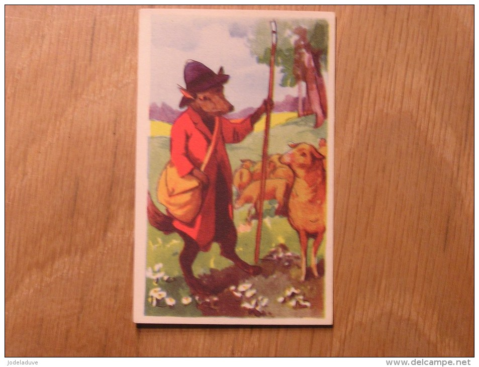Chromo  N° 89  Le Loup Devenu Berger  Chocolat Clovis Pepinster Chocolaterie Belge Trading Card Chromos - Otros