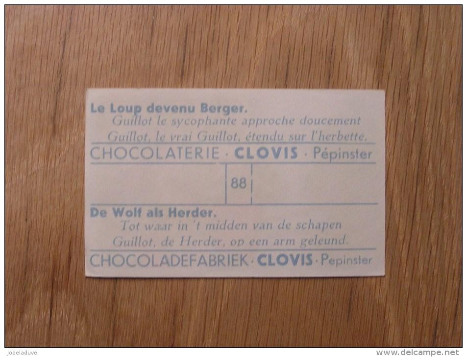 Chromo  N° 88  Le Loup Devenu Berger  Chocolat Clovis Pepinster Chocolaterie Belge Trading Card Chromos - Otros