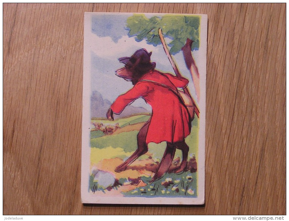 Chromo  N° 87  Le Loup Devenu Berger  Chocolat Clovis Pepinster Chocolaterie Belge Trading Card Chromos - Otros
