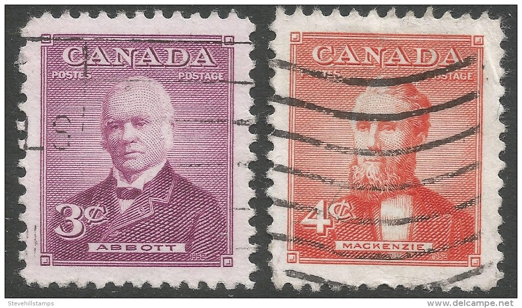 Canada. 1952 Prime Ministers (2nd Issue). Used Complete Set. - 1952-.... Reign Of Elizabeth II