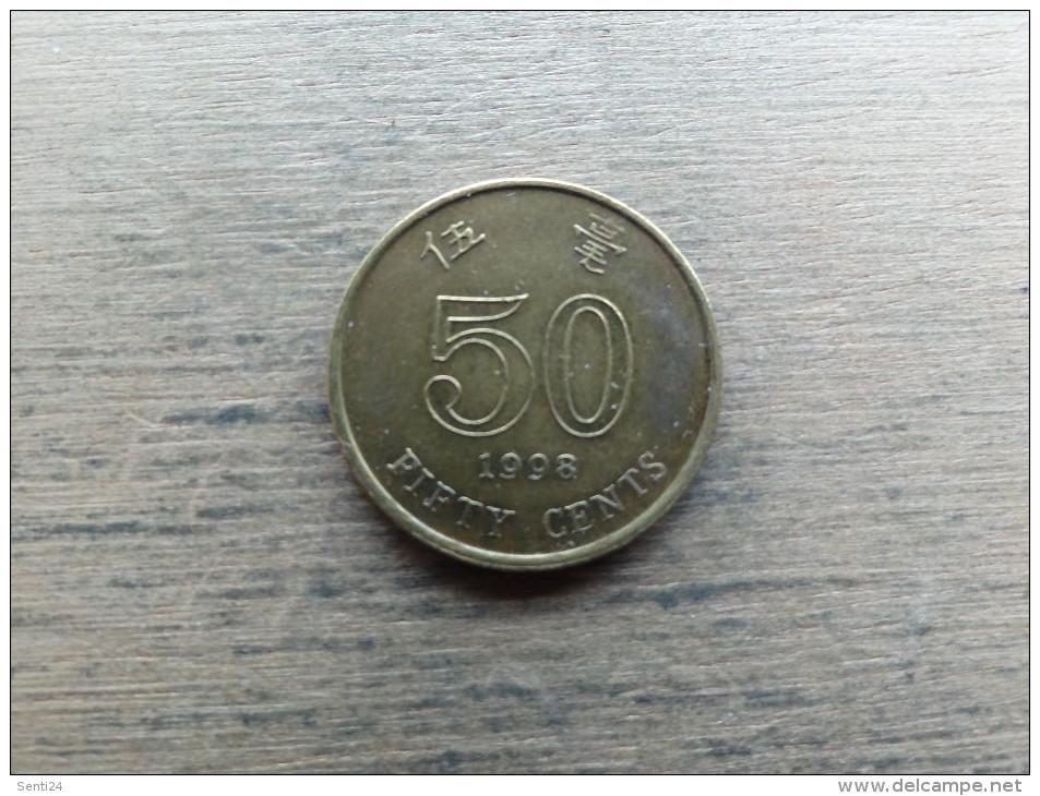 Hong Kong  50 Cents  1998  Km68 - Hong Kong