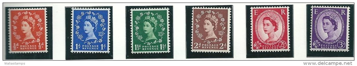 Great Britain 1957 SG 561-6 MNH - 1952-.... (Elizabeth II)