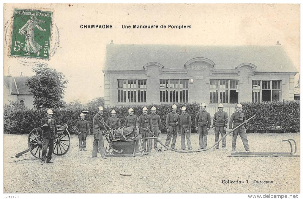 VAL D'OISE 95  CHAMPAGNE  MANOEUVRE DE POMPIERS - Champagne Sur Oise
