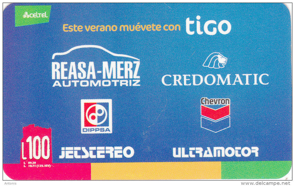 HONDURAS - Celtel/TIGO Prepaid Card L100, Exp.date 01/07, Used - Honduras
