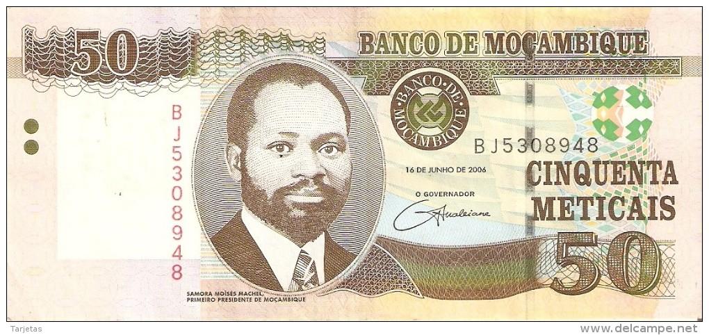 BILLETE DE MOZAMBIQUE DE 50 METICAIS DEL AÑO 2006 (BANKNOTE) (GACELA-DEER) - Mozambique