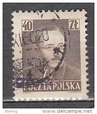 Poland 1950 Mi# 655 Overprint 'groszy' - 1944-.... Republik
