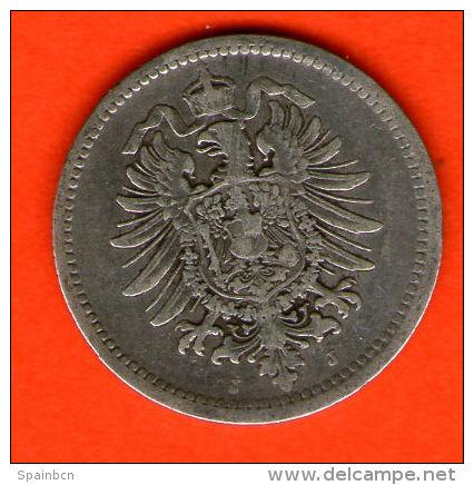 ** 50 Pfennig 1875 J **  KM 6 - Plata / Silver / Silber  - ALEMANIA / DEUTSCHLAND / GERMANY - [ 2] 1871-1918 : Imperio Alemán