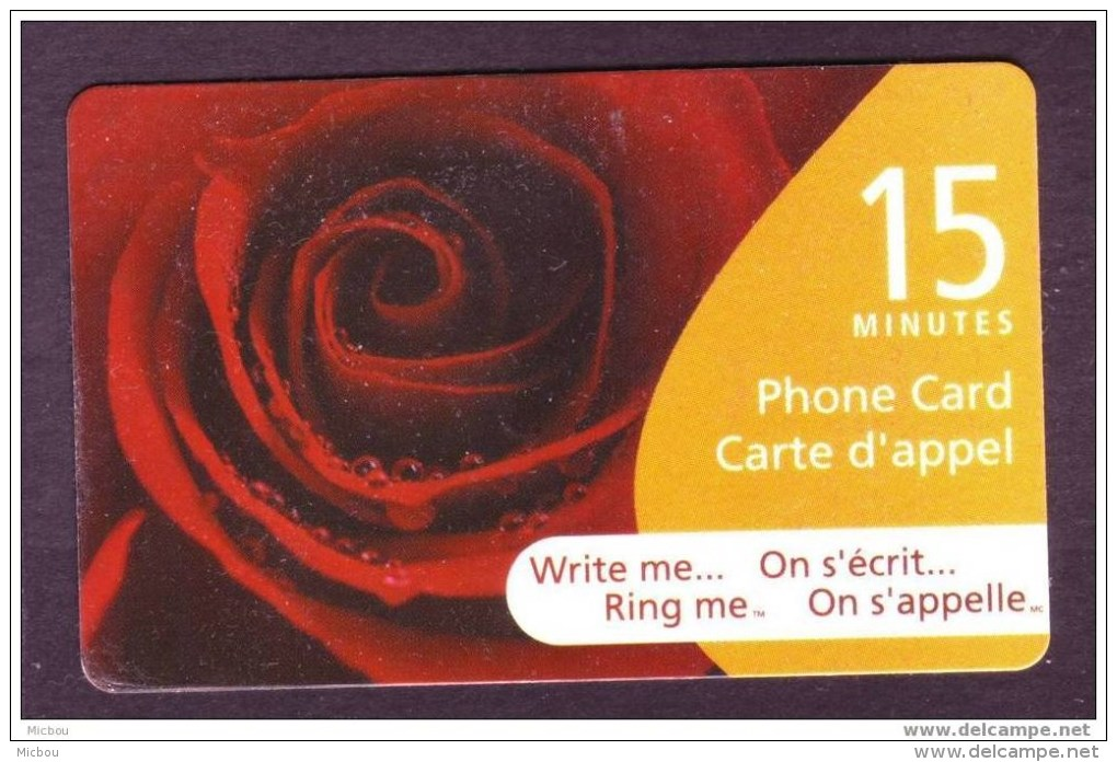Canada, 2005, Télécarte, Fleur, Rose, Flower - Blumen