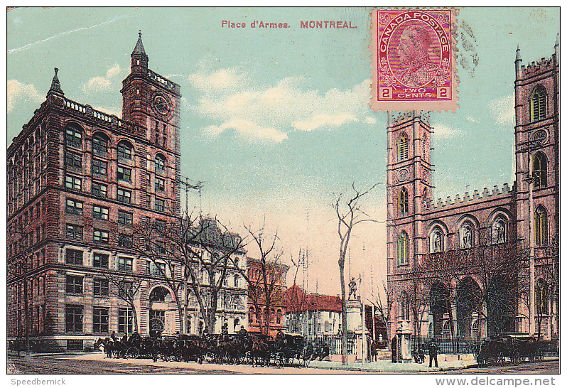 22715 CANADA - Quebec MONTREAL  Place D'armes -european Post Card 2017 - - Montreal