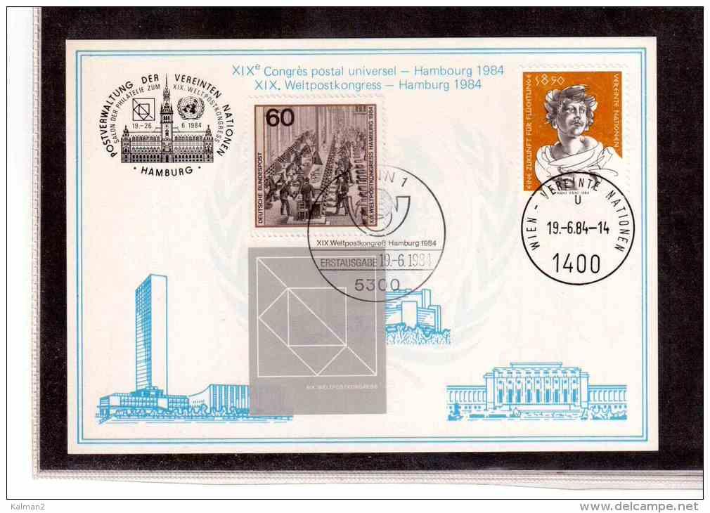 "TEM913     -     ""XIX  WELTPOSTKONGRESS HAMBURG 1984 ""       /      WIEN  19.6.1984 - Post"