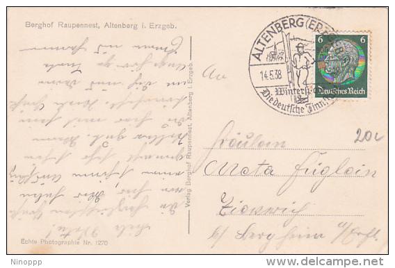 Germany 1938 Skiing Souvenir  Postmark - Skiing