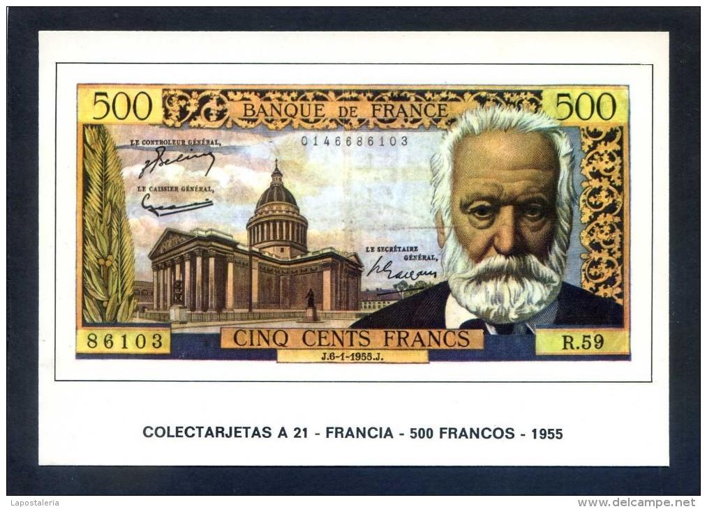 Colectarjetas A 22 - *Francia - 1000 Francos - 1956* Ed. Eurohobby. Nueva. - Monedas (representaciones)
