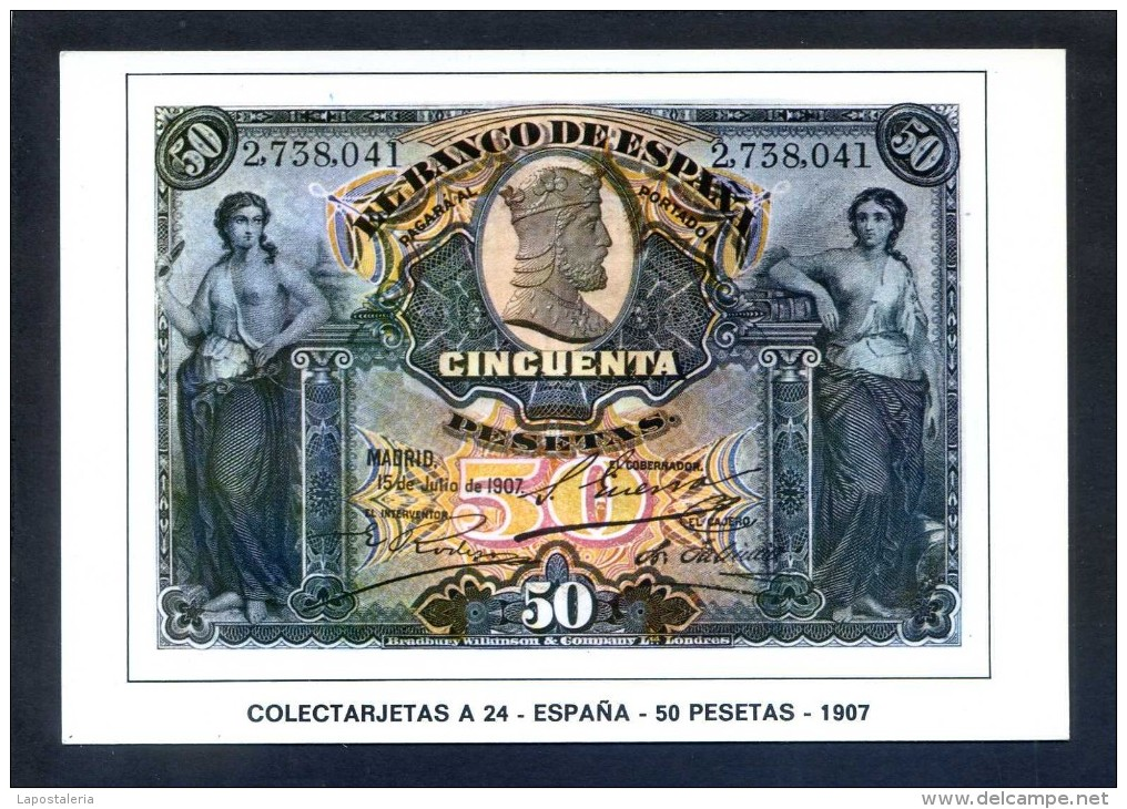 Colectarjetas A 24 - *España - 50 Pesetas - 1907* Ed. Eurohobby. Nueva. - Monedas (representaciones)