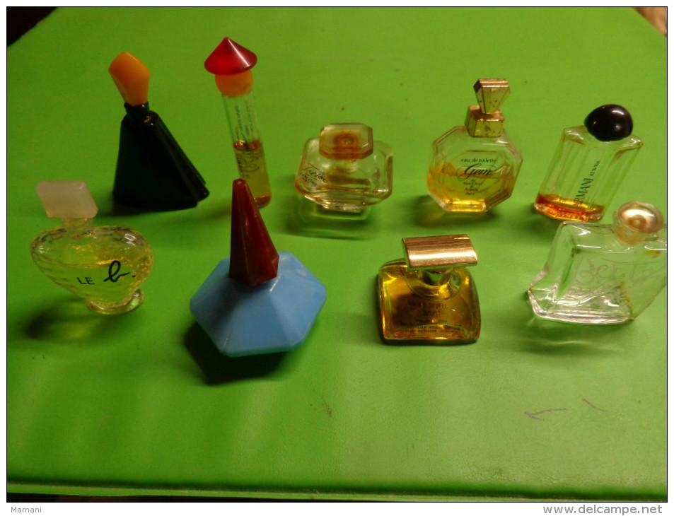 Lot De 9 Flacons Parfum Ou Eau De Toilette- Miniatures-- - Miniatures Modernes (à Partir De 1961)