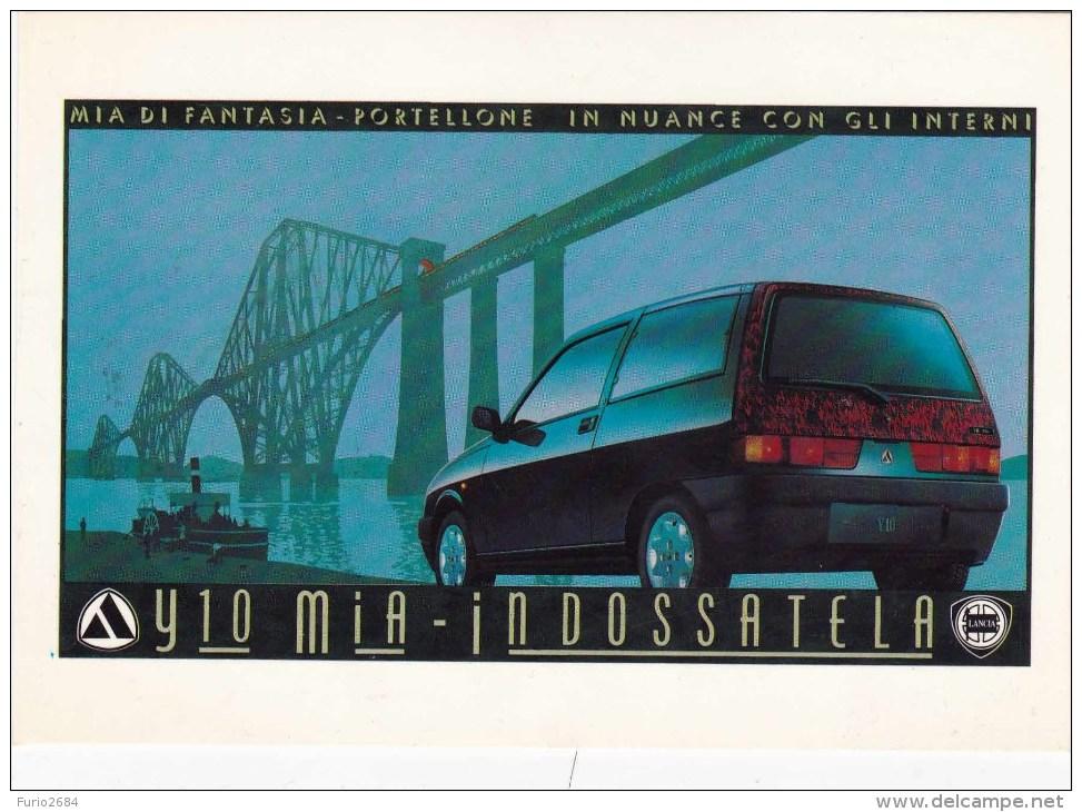 C-1078 Cartolina Pubblicitaria Lancia Y10 Mia - Advertising