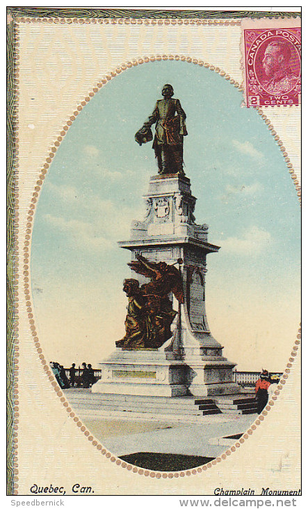 22765 CANADA QUEBEC  Champlain Monument - Novelty Mfg - Quebec