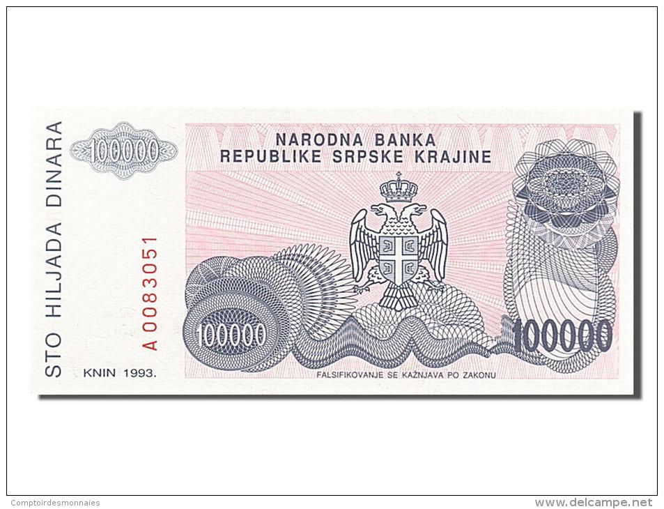 [#254356] Croatie, 100 000 Dinara, Type 1993 - Croatie