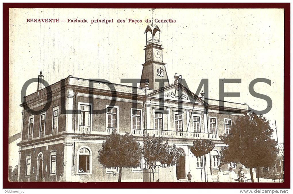 BENAVENTE - FACHADA PRINCIPAL DOS PAÇOS DO CONCELHO - 1930 PC - Santarem