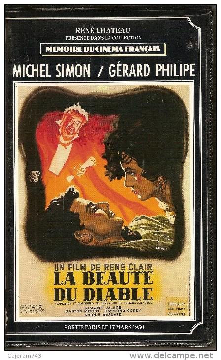 K7,VHS.René Chateau. LA BEAUTE DU DIABLE. Michel SIMON, Gérard PHILIPE, Simone VALERE, Raymond CORDY - Romantique