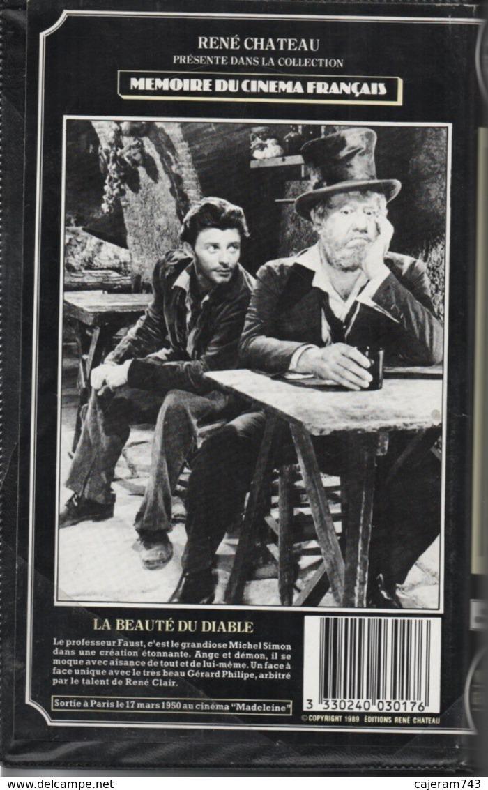 K7,VHS. René Chateau. LA BEAUTE DU DIABLE. Michel SIMON, Gérard PHILIPE, Simone VALERE, Raymond CORDY - Romantique