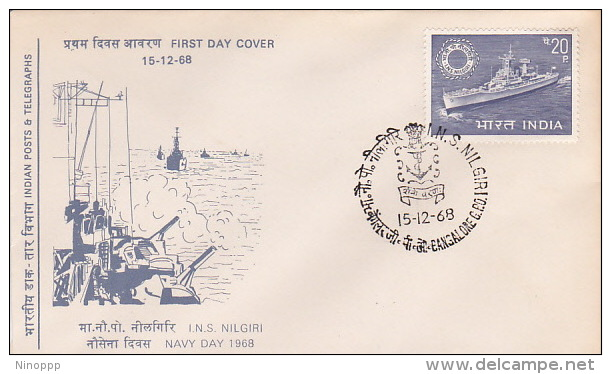 India 1968 Navy Day FDC - FDC
