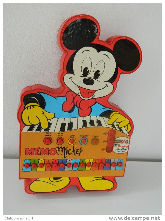 RARE - Vintage - Mémo Mickey - Avril By Bontempi - Walt Disney Productions - Jeu De Musique - RARE - Autres