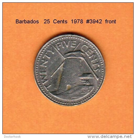 BARBADOS   25  CENTS   1978   (KM # 13) - Barbados