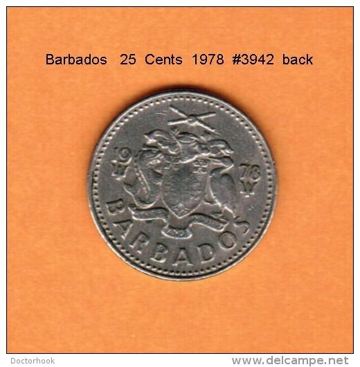 BARBADOS   25  CENTS   1978   (KM # 13) - Barbades