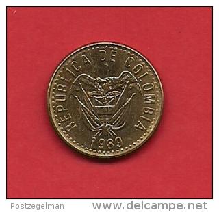 COLOMBIA,1989, XF Circulated Coin, 20 Pesos , Copper Alu Nickel,  KM 282.1,  C1817 - Colombia