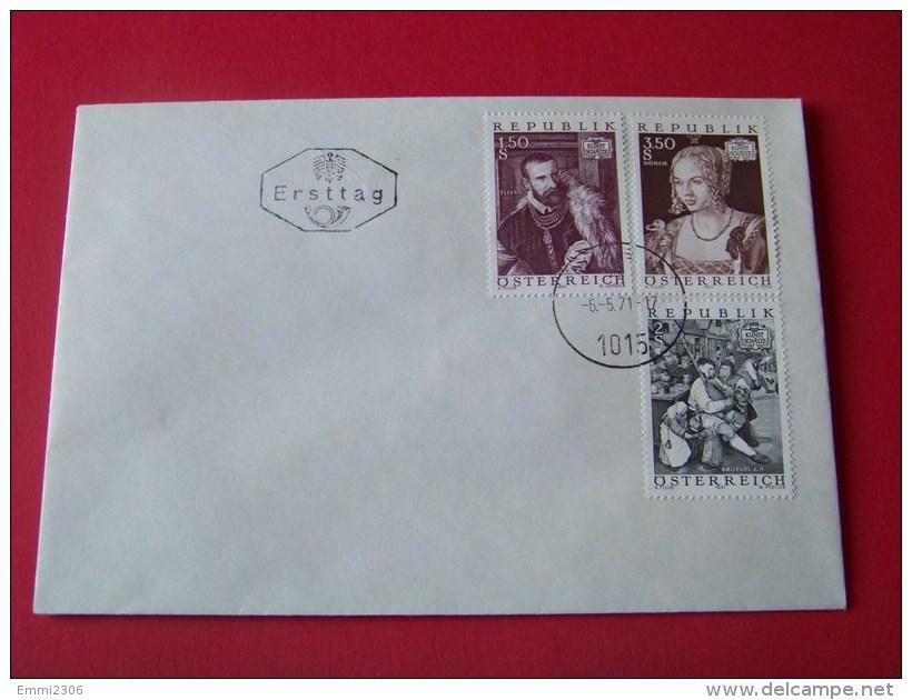 Österreich  Ersttags   Brief   1971    Mi.  1360 - 1362    / ( T - 16 ) - Entiers Postaux
