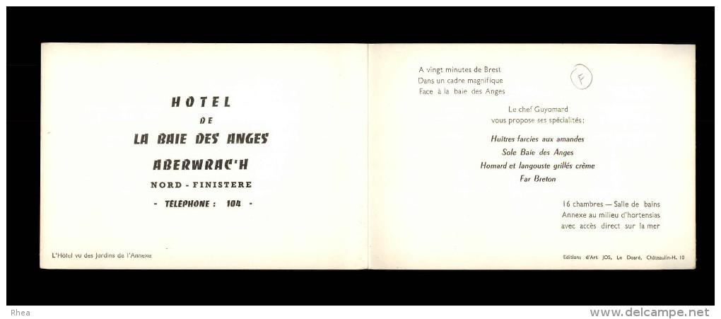 29 - L´ABERWRACH - Carte Double Publictaire De L'Hôtel De La Baie Des Anges - Frankreich