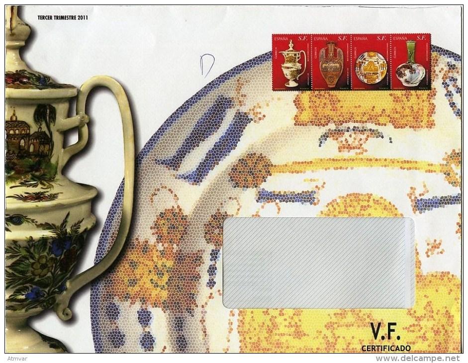 ESPAÑA / SPAIN / ESPAGNE (2011) - Sobre / Cover / Lettre - Porcelana, Arte, Cerámica, Ceramique, Ceramic, Porcelain - Porcelana