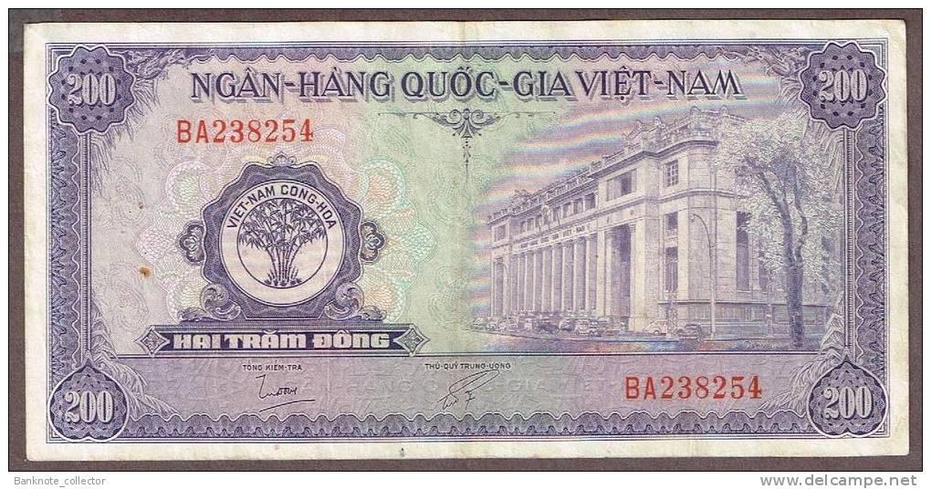 Vietnam, South - Vietnam, Pick 9 B, 200 Dong, 1958 ! - Vietnam