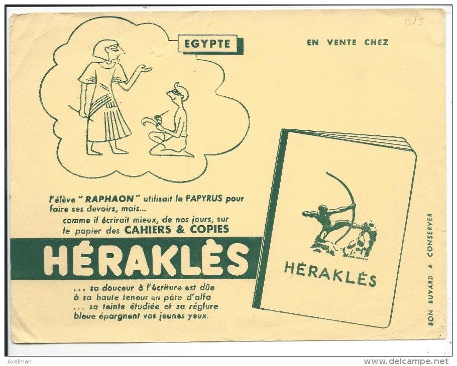 BUVARD: Herakles, L'Egypte - Buvards, Protège-cahiers Illustrés