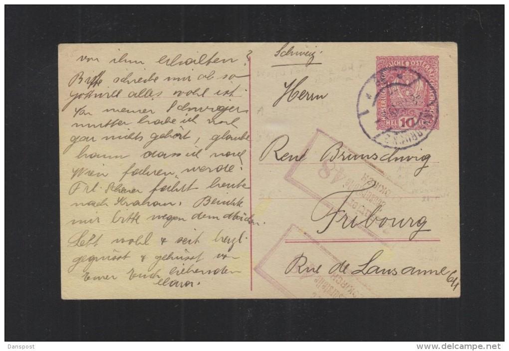 Österreich GSK 1919 Innsbruck In Die Schweiz Zensur - 1918-1945 1a Repubblica
