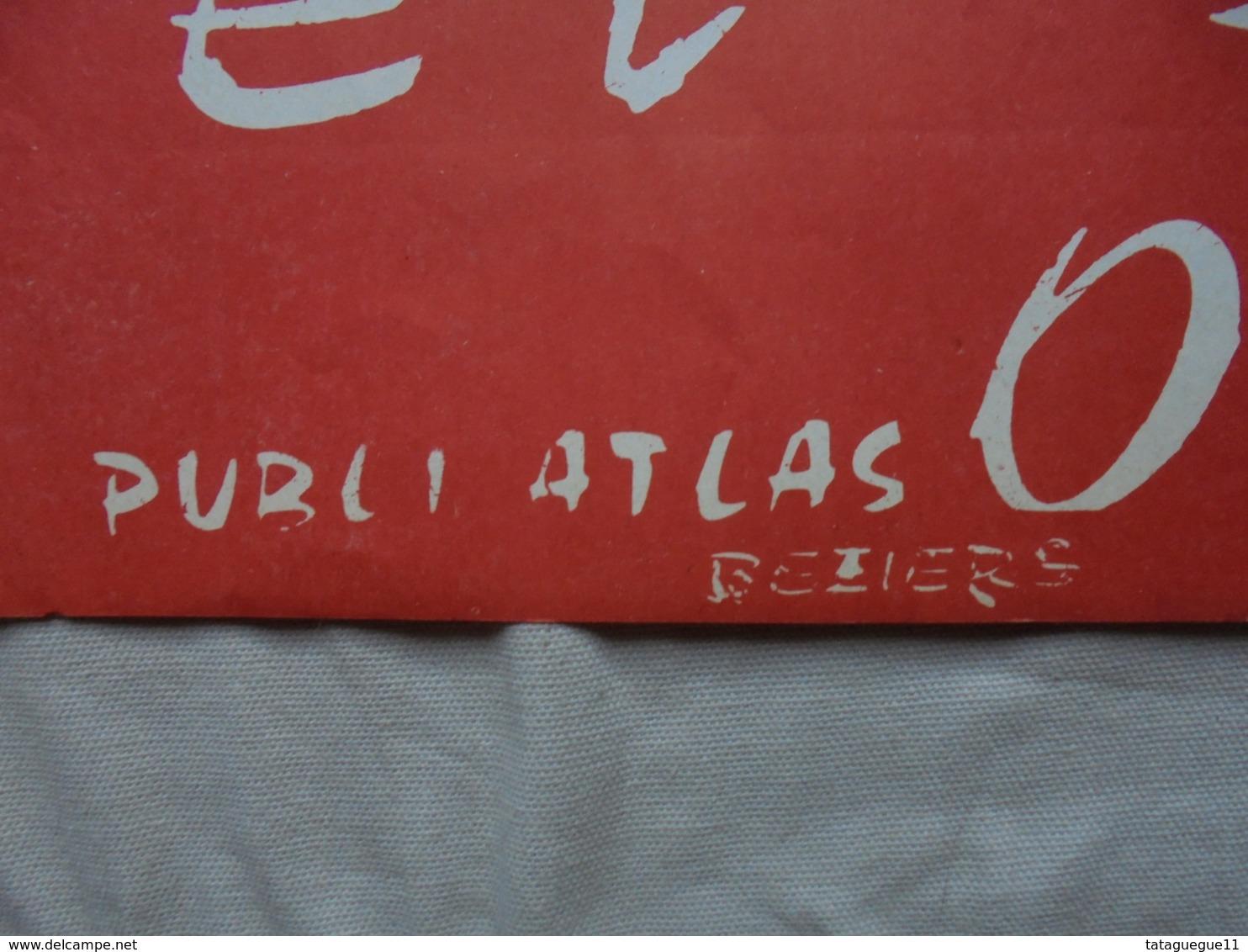 """Ancien - Affiche """"José ESCOBAR Et Son Orchestre"""" Publi Atlas Béziers - Plakate & Poster"""
