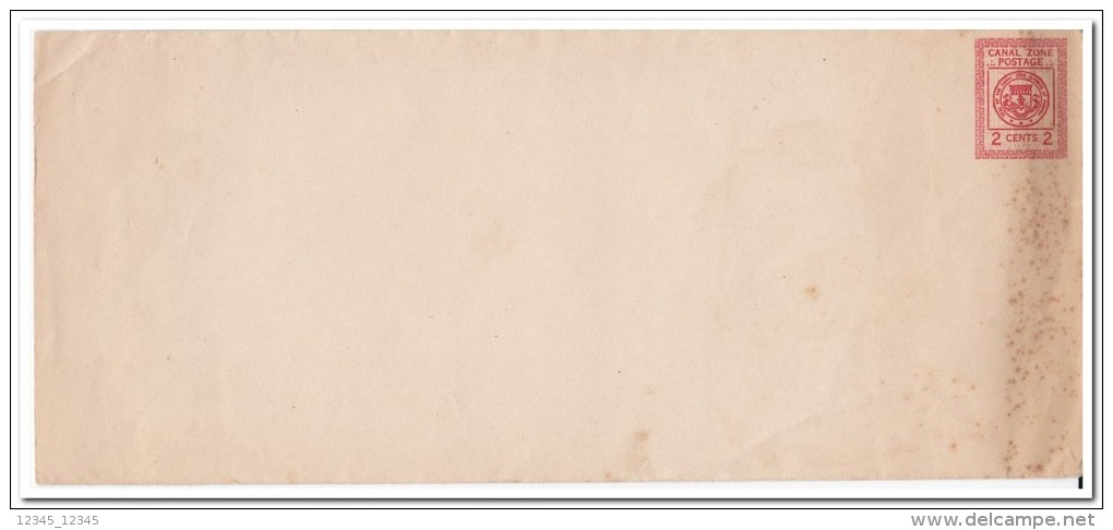 Canal Zone, 2 Cents Prepayed Envelope - Postzegels