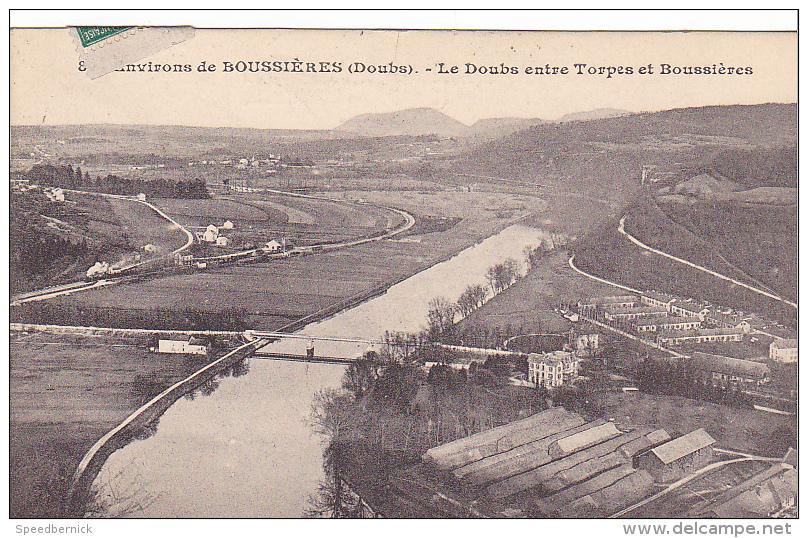 22925 Environs De BOUSSIERES.Le Doubs Entre Torpes Et Boussières - 8? Ed Dard - France