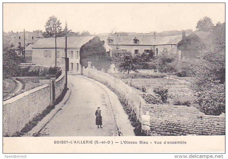 22941 BOISSY L´AILLERIE (95 France)- Oiseau Bleu ´ Vue Ensemble - Cliche Ledet - Femme - - Boissy-l'Aillerie