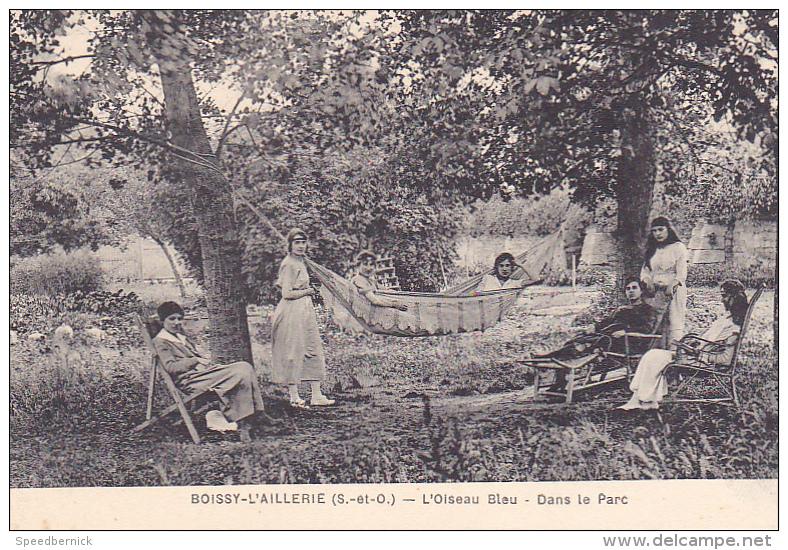 22945 BOISSY L´AILLERIE (95 France)- Oiseau Bleu ´ Dans Le Parc- Cliche Ledet - Femme -enfant Hamac - Boissy-l'Aillerie