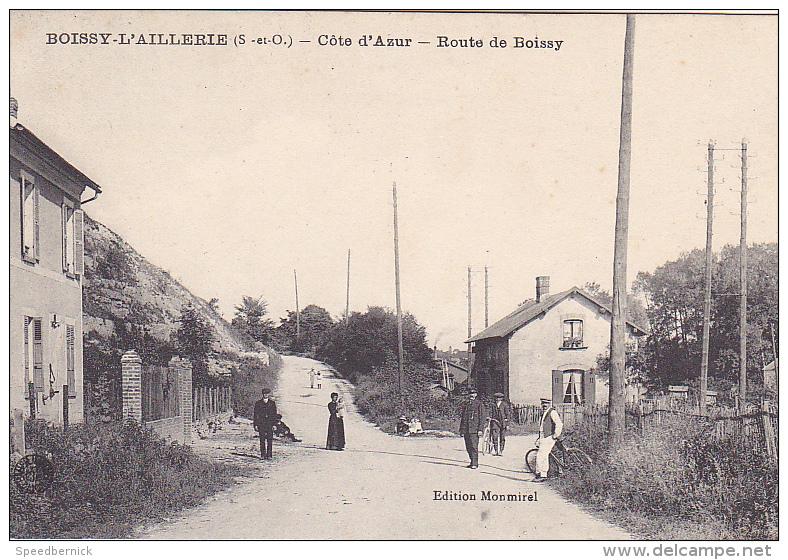 22946 BOISSY L´AILLERIE (95 France)- Cote Azur , Route De Boissy -ed Monmirel -gare Garde Barriere - Boissy-l'Aillerie