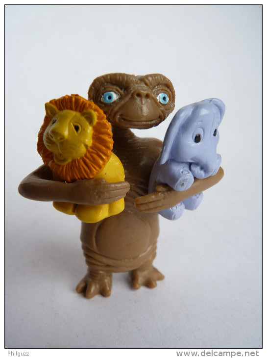 FIGURINE E.T. AVEC DES DOUDOUS Publicitaire CADEAU BONUX (3 éléments) TRES RARE COMPLET - Figurines