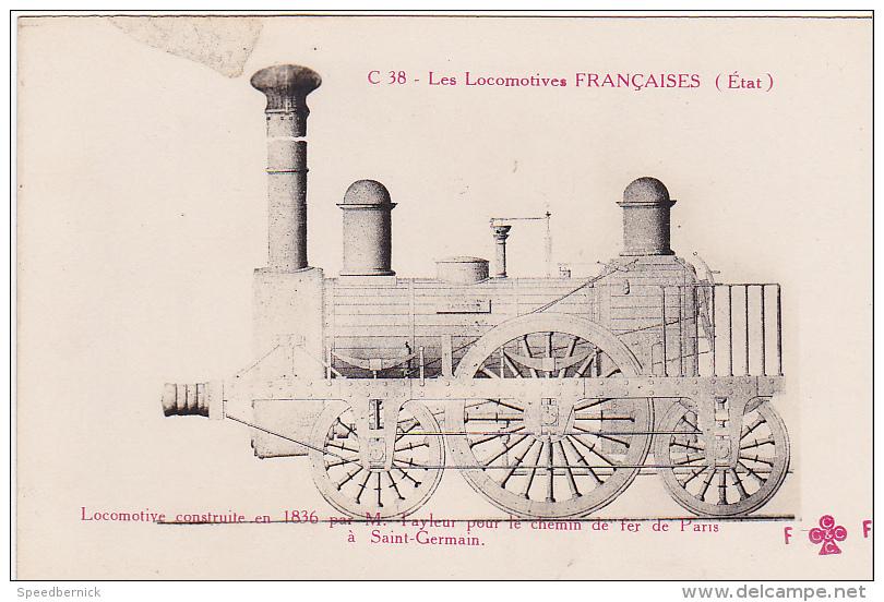 22996 Locomotives Francaises  1836 Tayleur Chemin Fer Paris Saint Germain  -C38 Trefle Fleury FF Cccc - Matériel