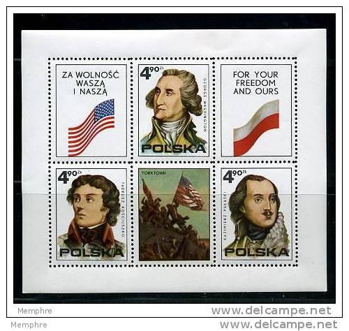 POLAND 1975  200 Th Ann USA  Souvenir Sheet  Scott 2122 MNH ** - Blocks & Sheetlets & Panes