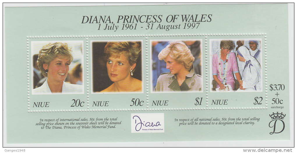 Niue  Princess Diana  S/S # 55038 S - Famous Ladies
